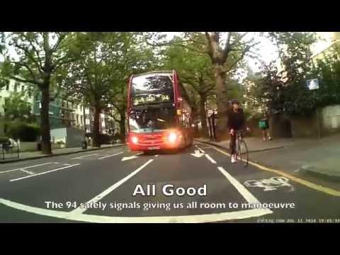 Dangerous driving - Bus 94 Holland Park Avenue