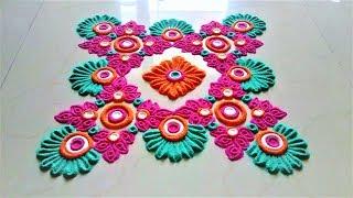 Innovative and Creative Rangoli Designs Using Bangles# Gudi Padwa Rangoli by Shital Mahajan.