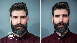 Short Beard Trim With Disconnected Mustache | Carlos Costa thumbnail
