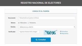 ARGENTINA: Consulta el Padrón Provisorio 2015 - Reclamos al Padrón - Elecciones Nacionales