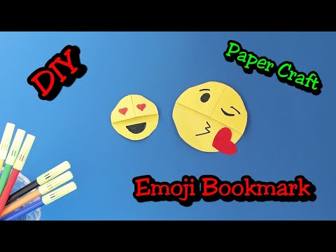 DIY EMOJI BOOKMARK | PAPER CRAFT | RANAPRAVA BARMAN
