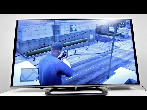 A big TV that's good for gaming? (Sharp 60-inch LC-60LE857U Unboxing & Demo)