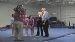 Olga Korbut give an interview to CBS5 in 2008