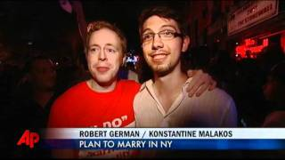 Raw Video: NYC Gay Marriage Vote Celebrations