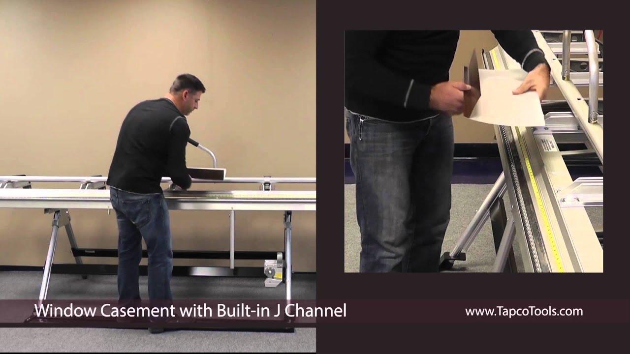 Bending a Window Casement with Built-in J-channel