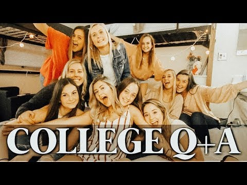 College Q+a Ft. My Hall Mates | How To Find A Roommate, Partying, Dorm Essentials, Tips, And More
