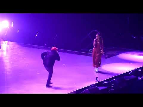 The Way/Dang - Ariana Grande & Mac Miller Live in Paris at The Dangerous Woman Tour (HD)