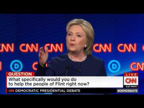 Democratic Presidential Debate in Flint Michigan by CNN - 03-06-2016