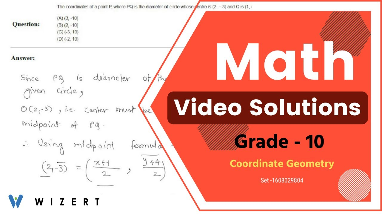 Grade 10 Math Coordinate Geometry worksheets - Set 1608029804 - YouTube [ 720 x 1280 Pixel ]