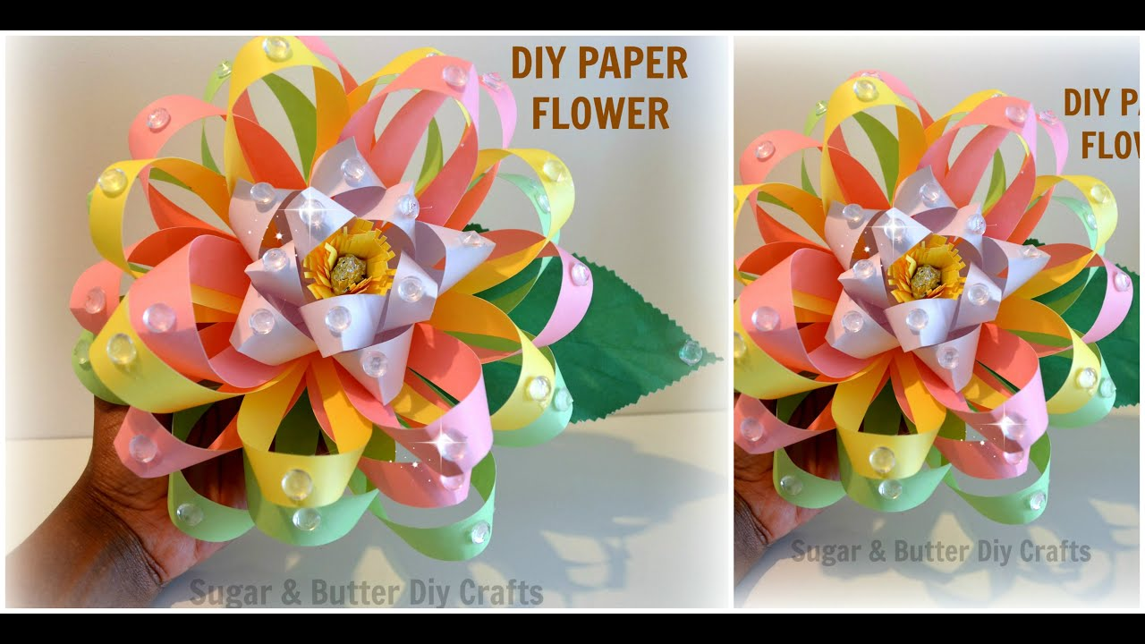 Diy Paper 3D Flower Crafts : DIY Amazing paper flower wedding/party ...