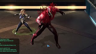 Marvel Heroes - Venom Toxin Costume Gameplay (With Arachne Team-Up)