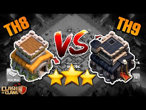 TOWN HALL 8 VS TOWN HALL 9 THREE STAR!?  TH8 Clash Of Clans