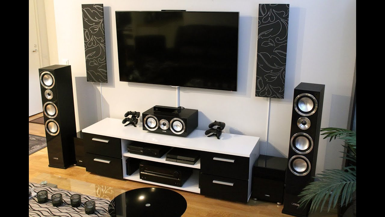 Ultimate Home Theater Setup 2.0 (Samsung, Onkyo, Canton Chrono, Xbox One and PS4) - YouTube
