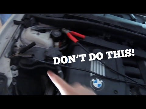how to jump start a bmw 1 3 series youtube. Black Bedroom Furniture Sets. Home Design Ideas