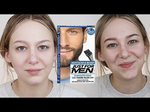 DIY BROW TINT using MENS\' BEARD DYE - YouTube