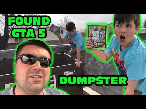 Kid Finds GTA 5 While Dumpster Diving After Teacher Throws Away The Game