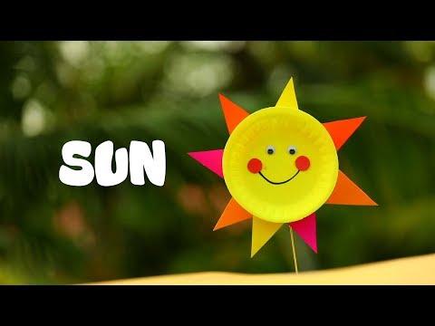 PAPER PLATE SUN  ||  DIY CRAFT || EASY KIDS CRAFT