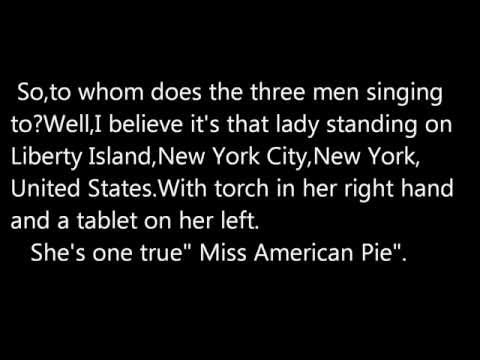 """American Pie"" - Don McLean 1971  (2012 Analysis)"