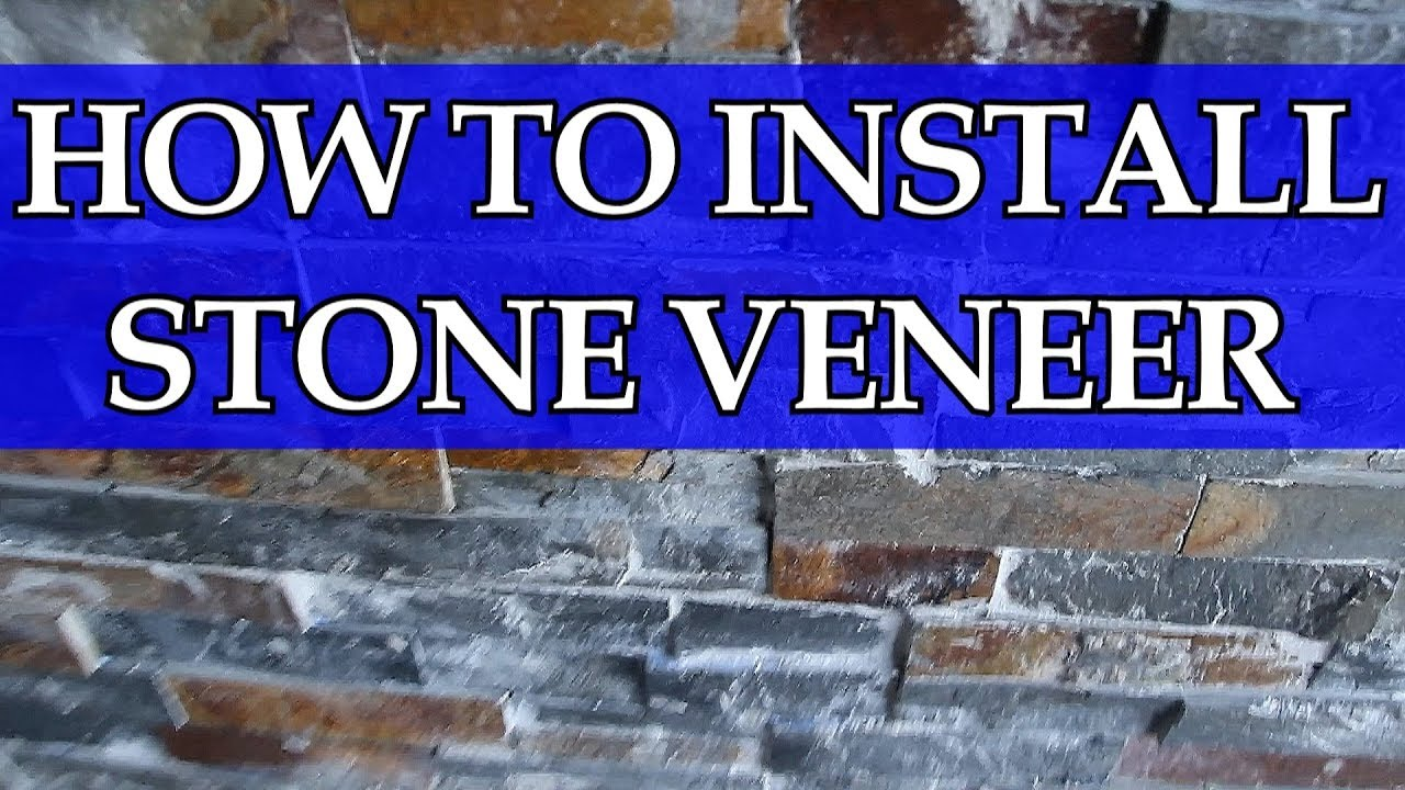 How To Install Stone Veneer / DIY / Home Theater - YouTube