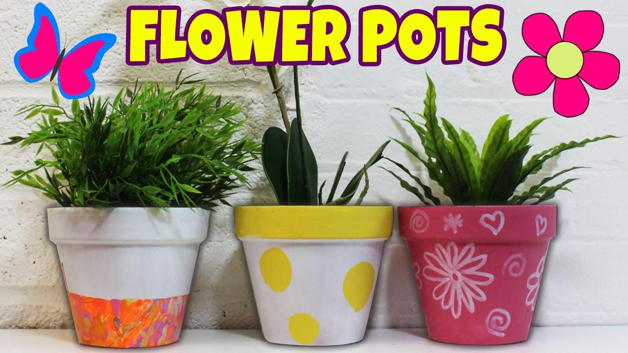 Spring painted flower pots diy summer room decor ideas for Flower pots design images