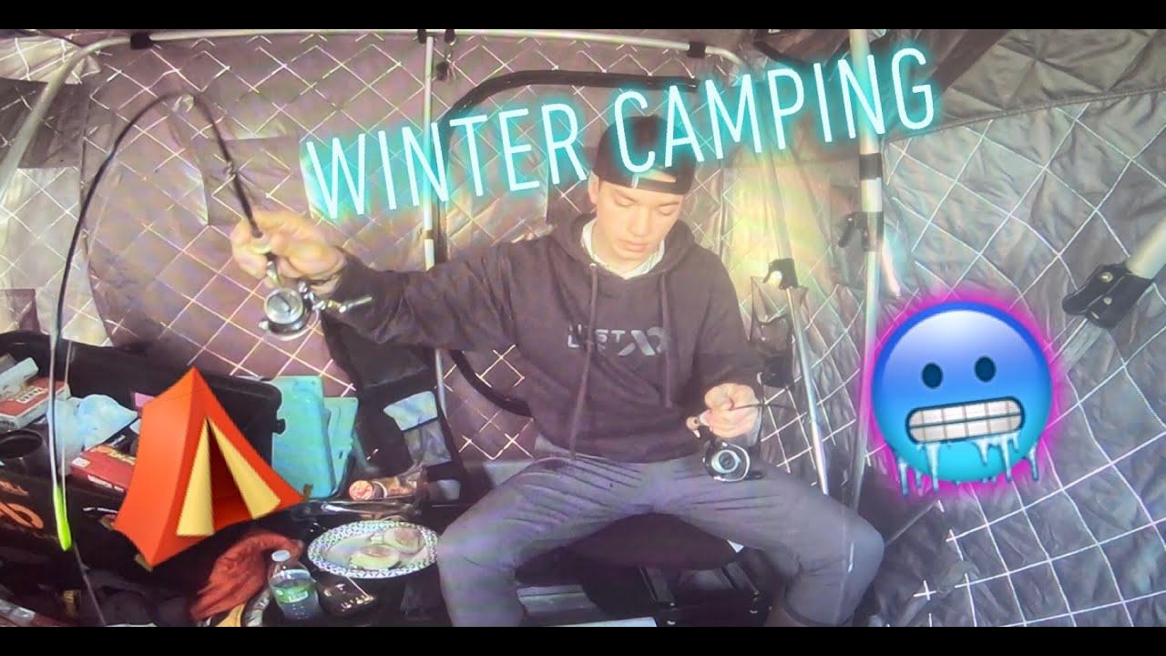 WINTER CAMPING Red Lake Minnesota - YouTube