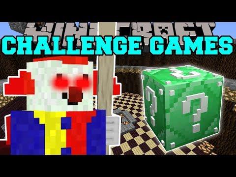 Minecraft: KILLER CLOWN CHALLENGE GAMES - Lucky Block Mod - Modded Mini-Game