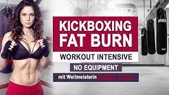 KICKBOXING FAT BURN WORKOUT // Ganzkörper I Weltmeisterin Marie Lang