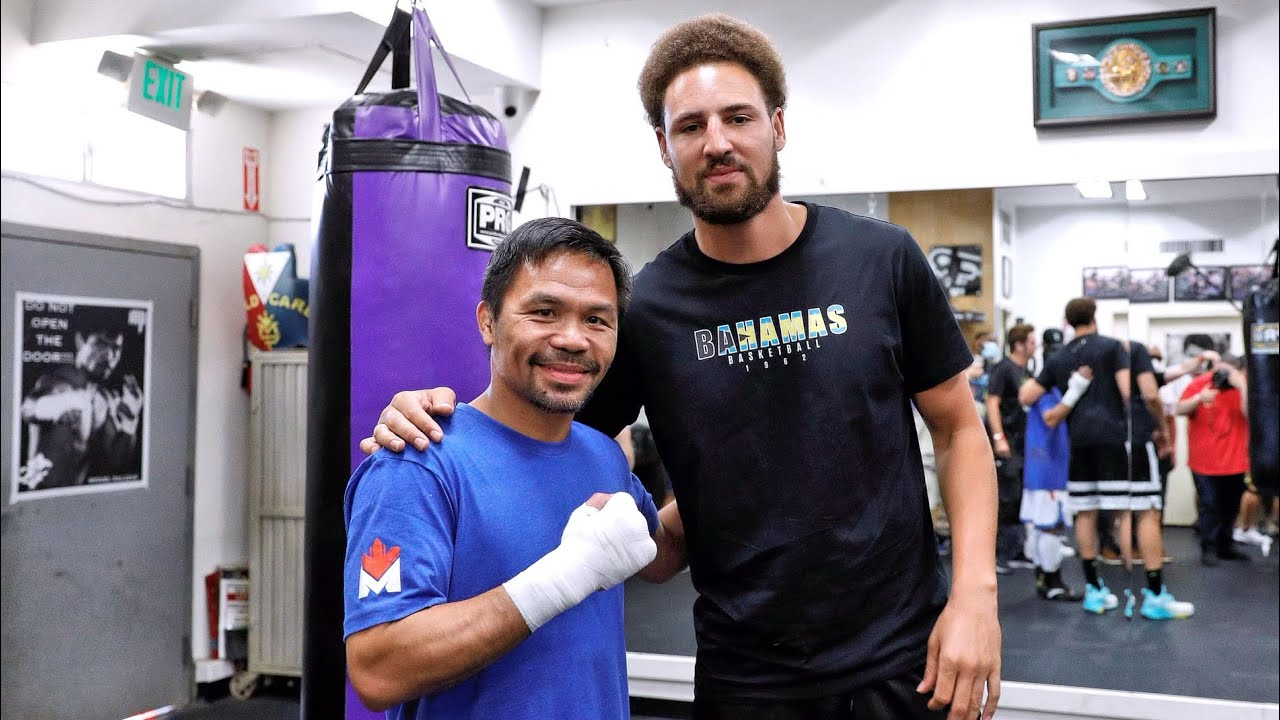 KLAY THOMPSON visits MANNY PACQUIAO!
