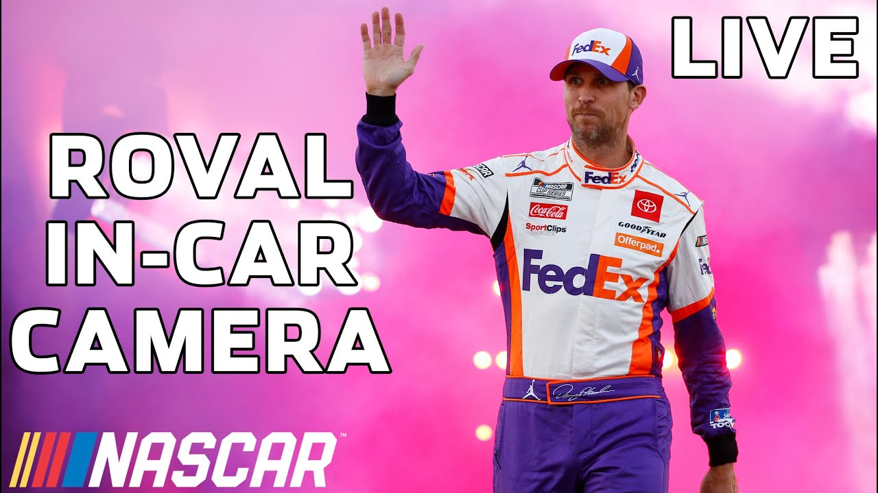 LIVE: Denny Hamlin in-car Camera from the ROVAL presented by Coca-Cola