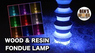 Making a wood and resin lamp | using Hafco WL-14V Lathe