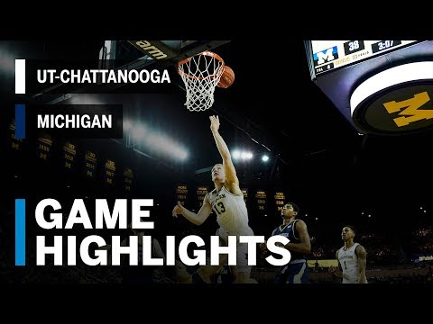 Highlights: UT-Chattanooga at Michigan | Big Ten Basketball