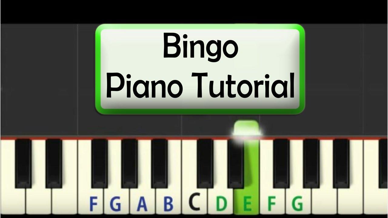 Easy Piano Tutorial Bingo