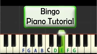Easy Piano Tutorial: Bingo