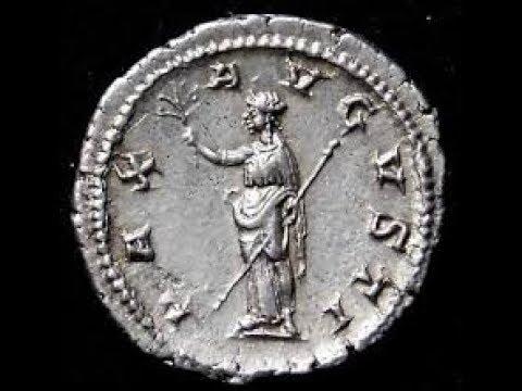 Ancient Roman  Silver coin & Roman Stylus