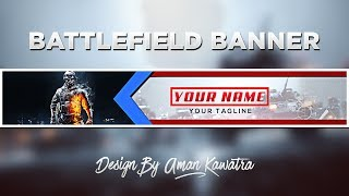 Clean Battlefield Banner Template | Speedart #30 (FREE DOWNLOAD)