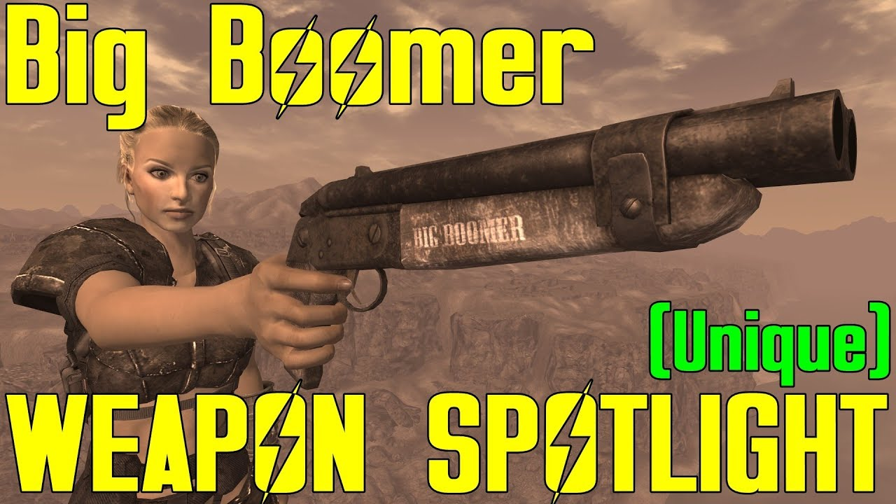 Fallout New Vegas Weapon Spotlights Big Boomer Unique Youtube