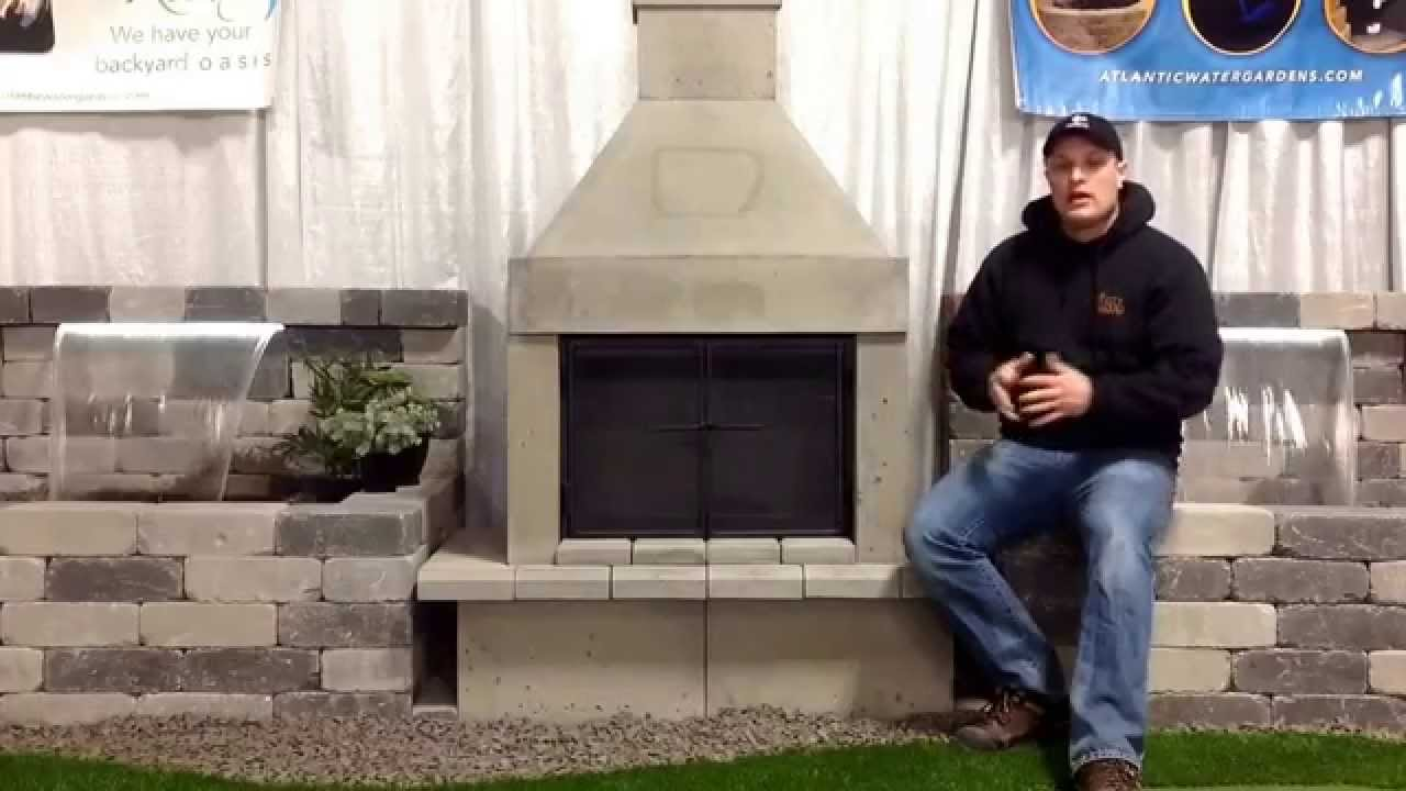 Wood burning outdoor fireplaces from Mirage Stone at The Rusty Shovel Landscape Shop in Regina