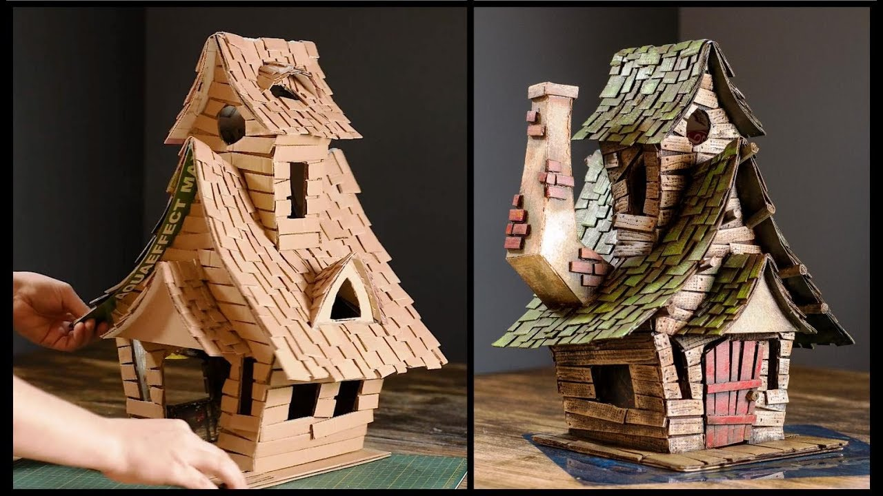 Witch House Using Cardboard: 5 Steps (with Pictures)