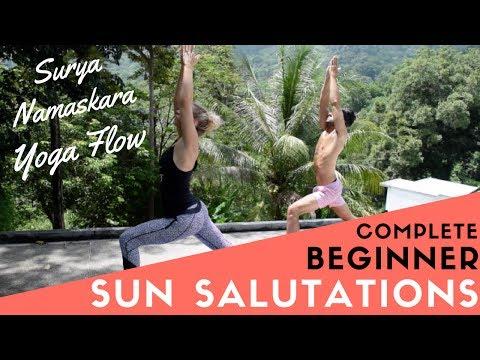 Sun Salutation Yoga for Beginners   Meditative Flow   Surya Namaskara A & B