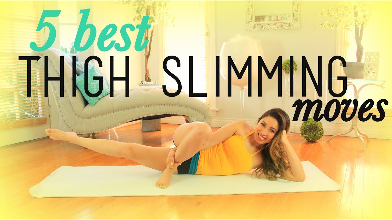 5 Best THIGH SLIMMING Exercises - YouTube
