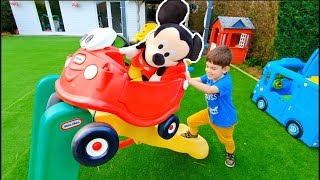 Cozy Coupe Ride on with Mickey Mouse on Slide