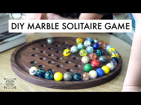 DIY Marble Solitaire Game – #BuildAtHome Project – Scrap Wood Challenge!