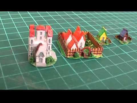 Cмотреть Домики и замки из картона и бумаги