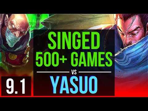 SINGED Vs YASUO (TOP) | 500+ Games | EUW Diamond | V9.1