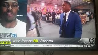 Oakland Raiders select Alabama RB Josh Jacobs with pick 24 2019 NFL draft