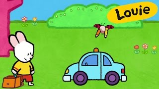 Police car - Louie draw me a police car | Learn to draw, cartoon for children