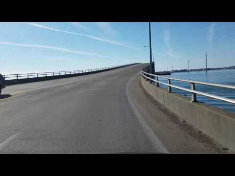 Driving across the Atlantic Beach Bridge from Morehead City, N.C.