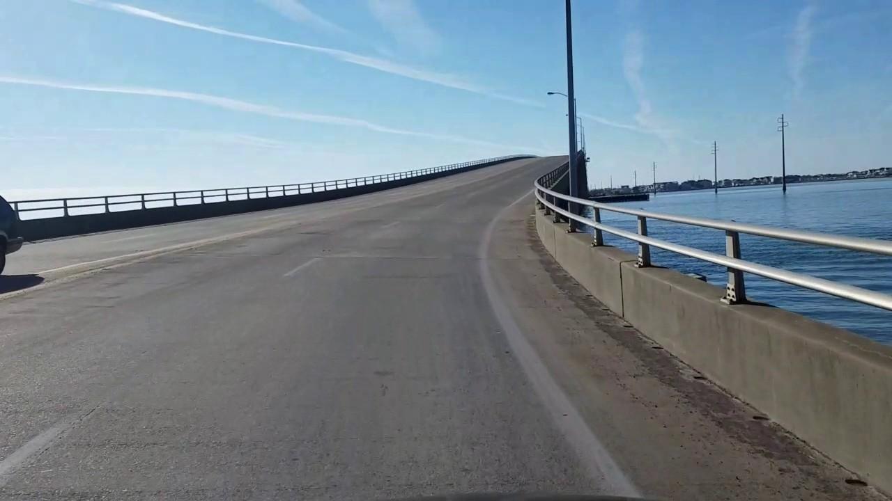 Driving Across The Atlantic Beach Bridge From Morehead City N C