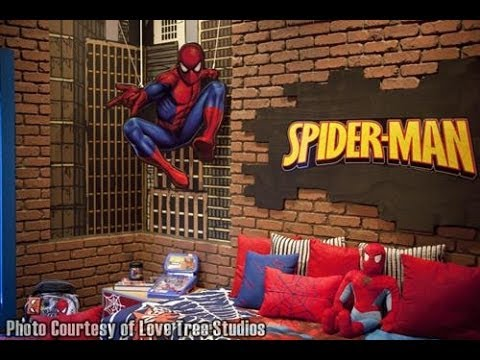 Spiderman Style Kids Room Decoration Ideas - YouTube