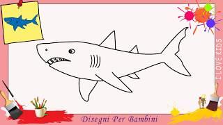 Come disegnare animali squalo bianco passo dopo passo for Disegno squalo per bambini